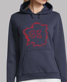 Xersei mapa Galiza azul/vermello - muller