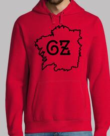 Xersei mapa Galiza vermello/negro - home