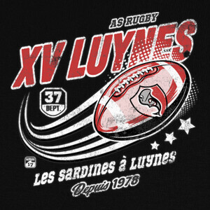 Tee-shirts xv rugby luynes