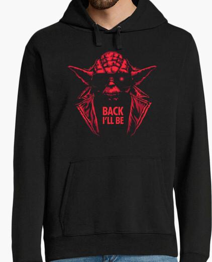 Felpa y-800 / yoda / guerre stellari / hoodie