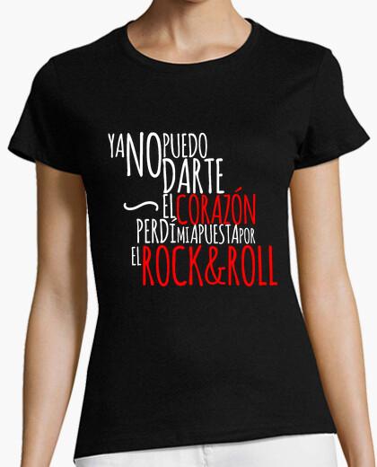 Camiseta yo no puedo rock mujer