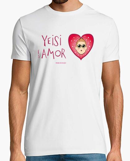 Camiseta YEISI ES AMOR chico blanca