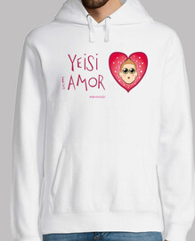 yeisi est amour sweat homme blanc
