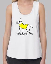 yellow dog dressed