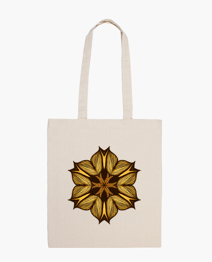 Yellow Flower Abstract Art In Ink bag