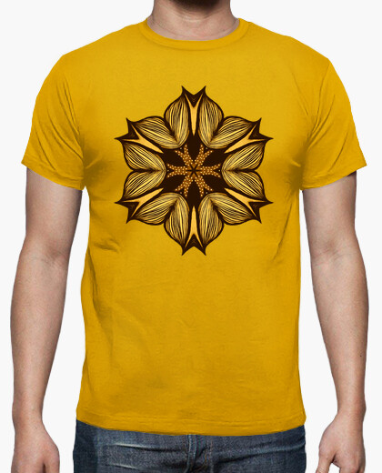 Yellow Flower Abstract Art In Ink t-shirt