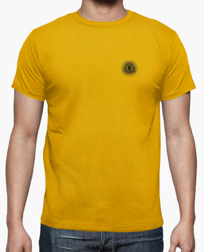 Yellow illuminati t-shirt