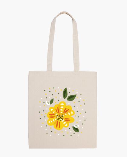 Yellow primrose flower bag