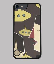 yellow submarine Funda iPhone 7/8, negra