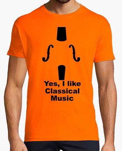 Camiseta Yes, I like classical music