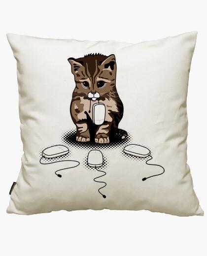 Housse de coussin yeux de chat