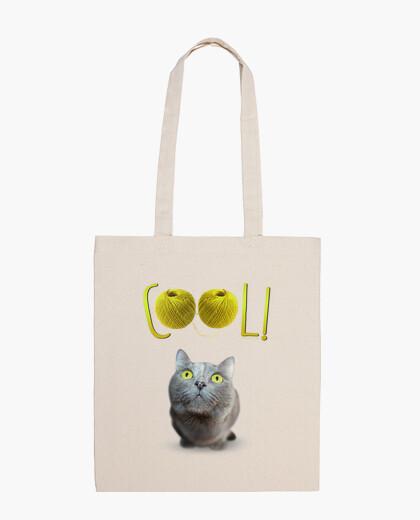 Sac yeux de chat verts heureuse - cool!