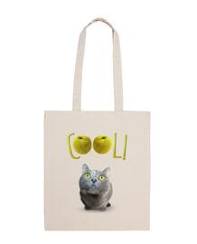 yeux de chat verts heureuse - cool!