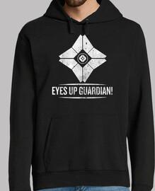 yeux jusqu'à, gardien!