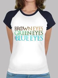 yeux marron verts et bleus