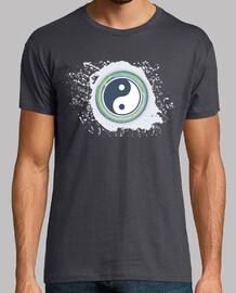 Yin Yang - Acuarela salpicadura