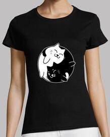 Yin Yang Con Gatos Kawaii Adorables
