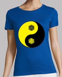 Yin Yang d20 - amarillo