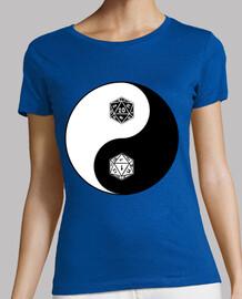 Yin Yang d20 - blanco y negro