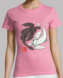 yin yang dragons chemise femmes