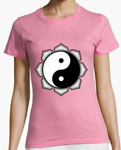 Camiseta Yin Yang en flor de Loto