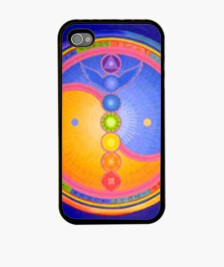 Coque iPhone ying yang cas chakras