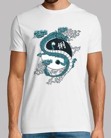 ying yang dragon lizard t-shirt cinese kanji giapponese