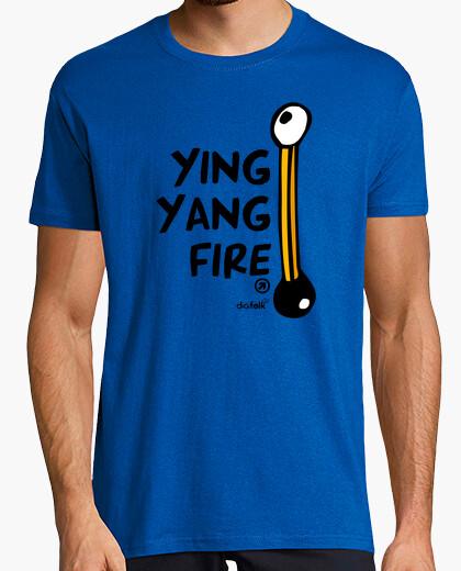 Tee-shirt ying yang feu