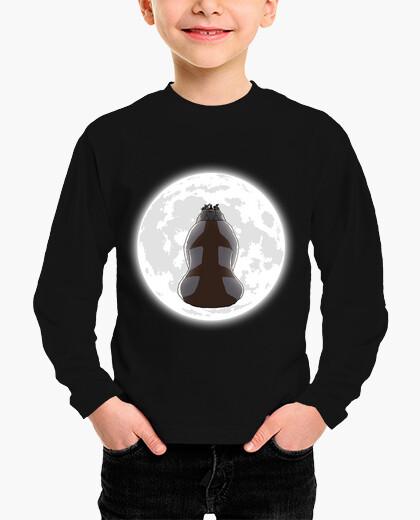 Ropa infantil yip yip en la camisa de los niños de luna