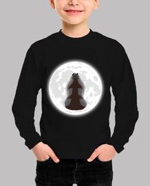 yip yip en la camisa de los niños de luna