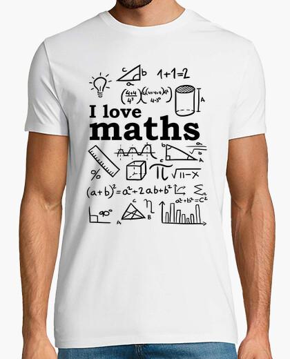 Camiseta Yo amo las matematicas