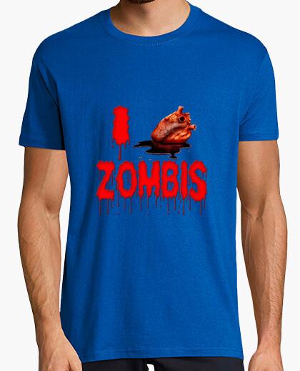 Camiseta Yo amo zombis