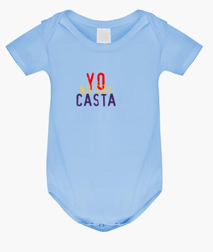 Ropa infantil YO NO SOY CASTA - PODEMOS - REPUBLICA - Body bebé, azul cielo