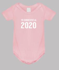 Yo sobreviví al 2020 Body Bebé Niña Manga Corta Gracioso