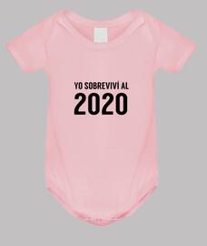 Yo sobreviví al 2020 Body de Bebé Niña Divertida