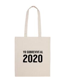 Yo sobreviví al 2020 Bolsa de Tela