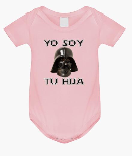 Ropa infantil Yo soy tu hija (Body Rosa)