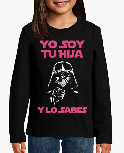 Ropa infantil Yo Soy Tu Hija (Y Lo Sabes) Niña (Fondo Oscuro)