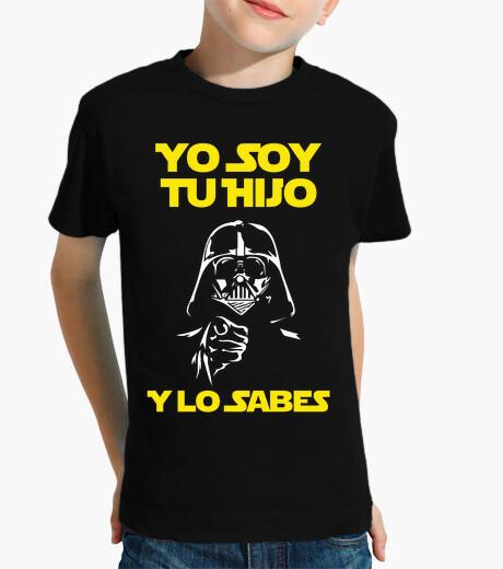 Ropa infantil Yo Soy Tu Hijo (Y Lo Sabes) Niño (Fondo Oscuro)
