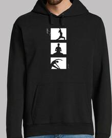 Yoga en tres blanco