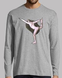 Yoga, hombre larga