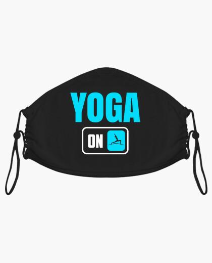 Mascarilla yoga humor bienestar graciosas...