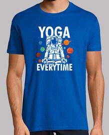 yoga namaste astronaut colorful apparel