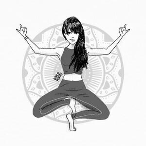 T-shirt Yoga pose chica