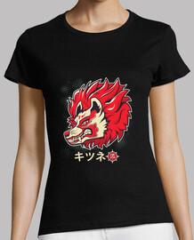 yokai shirt Kitsune mask traditional ja