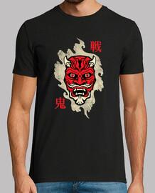 yokai shirt oni mask japan - tshirt culture japonaise