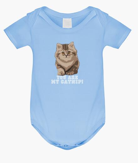 Ropa infantil You are my catnip! Bebé azul.