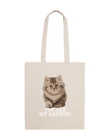 You are my catnip! Bolsa con dos asas.