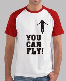 YOU CAN FLY HIGH black, estilo béisbol, blanca y roja