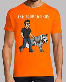 youman shirt walking smile.dog
